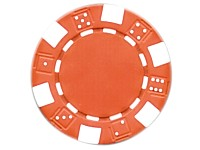 Grand Straight Royale 25 Spiel-Chips, rot-weiß im Dice-Design, 11,5g