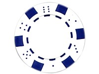 Grand Straight Royale 25 Spiel-Chips weiß-blau, im Dice-Design, 11,5g