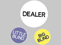 Grand Straight Royale Dealer Buttons (Dealer, Little Blind, Big Blind) im Beutel