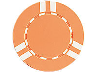 Grand Straight Royale 25 Spiel-Chips, orange-weiß im Stripes-Design, 11,5g
