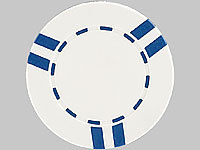 Grand Straight Royale 25 Spiel-Chips, weiß-blau im Stripes-Design, 11,5g