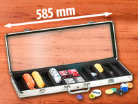 "Grand Straight Royale Poker-Set im Display-Koffer aus Aluminium ""Champion's Choice 500"""